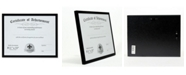 "Lawrence Frames Black Aluminium Picture Frame - 8.5"" x 11"""