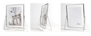 """Lawrence Frames Harland Silver Metal Float Frame with Metal Stand - 5"""" x 7"""""""