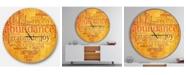 Design Art Designart Oversized Quote Round Metal Wall Clock