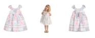 Laura Ashley London Girls Puff Sleeve Party Dress