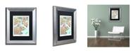 """Trademark Global Michael Tompsett 'Boston MA Street Map 2' Matted Framed Art - 11"""" x 14"""""""