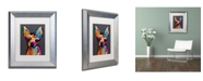 "Trademark Global Michael Tompsett 'Chihuahua Dog Grey' Matted Framed Art - 11"" x 14"""