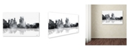 "Trademark Global Marlene Watson 'Boise Idaho Skyline BG-1' Canvas Art - 12"" x 19"""