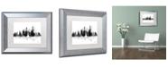 """Trademark Global Marlene Watson 'New York New York Skyline BG-1' Matted Framed Art - 11"""" x 14"""""""