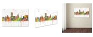 "Trademark Global Marlene Watson 'Providence RI Skyline Mclr-1' Canvas Art - 12"" x 19"""