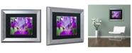 "Trademark Global PIPA Fine Art 'Glowing Iris' Matted Framed Art - 11"" x 14"""