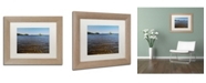 """Trademark Global Nicole Dietz 'View from the Shore' Matted Framed Art - 11"""" x 14"""""""