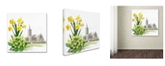 "Trademark Global The Macneil Studio 'Daffodils And Church' Canvas Art - 14"" x 14"""