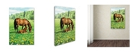 "Trademark Global The Macneil Studio 'Horse And Foal' Canvas Art - 12"" x 19"""