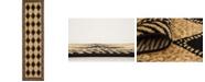 """Bridgeport Home Maasai Mss6 Light Brown 2' 7"""" x 10' Runner Area Rug"""