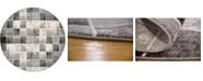 Bridgeport Home Maasai Mss1 Light Gray 6' x 6' Round Area Rug