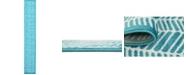 Bridgeport Home Politan Pol1 Turquoise 2' x 13' Runner Area Rug