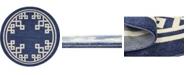 Bridgeport Home Anzu Anz3 Navy Blue 6' x 6' Round Area Rug