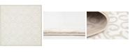 Bridgeport Home Marshall Mar5 Snow White 8' x 8' Square Area Rug
