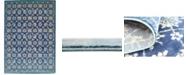 "Bridgeport Home Masha Mas1 Navy Blue 8' x 11' 4"" Area Rug"