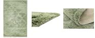 Bridgeport Home Filigree Shag Fil2 Green 5' x 8' Area Rug