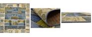 Bridgeport Home Pashio Pas1 Blue 6' x 6' Square Area Rug