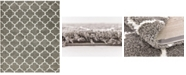 Bridgeport Home Fazil Shag Faz4 Gray 8' x 10' Area Rug