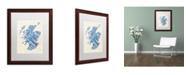 "Trademark Global Michael Tompsett 'Scotland Typography Text Map 5' Matted Framed Art - 16"" x 20"""