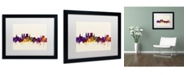 """Trademark Global Michael Tompsett 'York England Skyline' Matted Framed Art - 16"""" x 20"""""""
