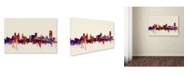 "Trademark Global Michael Tompsett 'Buffalo New York Skyline' Canvas Art - 16"" x 24"""