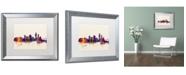 "Trademark Global Michael Tompsett 'Corpus Christie Texas Skyline' Matted Framed Art - 16"" x 20"""