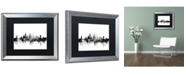 "Trademark Global Michael Tompsett 'Oxford England Skyline B&W' Matted Framed Art - 16"" x 20"""