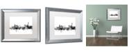 "Trademark Global Michael Tompsett 'Manchester England Skyline B&W' Matted Framed Art - 16"" x 20"""