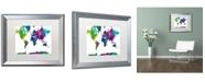 """Trademark Global Marlene Watson 'World Map Clr-1' Matted Framed Art - 16"""" x 20"""""""