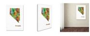 """Trademark Global Marlene Watson 'Nevada State Map-1' Canvas Art - 16"""" x 24"""""""