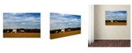 "Trademark Global PIPA Fine Art 'Red Barn in Golden Field' Canvas Art - 16"" x 24"""