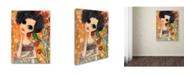 "Trademark Global Wyanne 'Big Eyed Girl A Birdy Told Me' Canvas Art - 18"" x 24"""