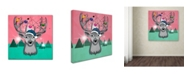 "Trademark Global Mark Ashkenazi 'Christmas Deer 3' Canvas Art - 18"" x 18"""