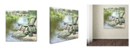 "Trademark Global The Macneil Studio 'Fishing' Canvas Art - 18"" x 18"""