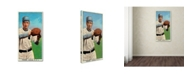 "Trademark Global Lantern Press 'People 57' Canvas Art - 16"" x 32"""