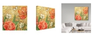 "Trademark Global Maria Rytova 'Red Tulips 2' Canvas Art - 18"" x 18"""