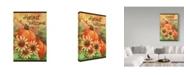 "Trademark Global Melinda Hipsher 'Pumpkin Sunflower Flag' Canvas Art - 16"" x 24"""