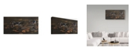 "Trademark Global Wilhelm Goebel 'Pond Ducks' Canvas Art - 16"" x 32"""