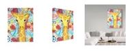 "Trademark Global Jennifer Mccully 'Watercolor - Giraffe' Canvas Art - 14"" x 19"""