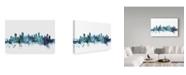 "Trademark Global Michael Tompsett 'Vancouver Canada Blue Teal Skyline' Canvas Art - 19"" x 12"""