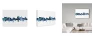 "Trademark Global Michael Tompsett 'Thun Switzerland Blue Teal Skyline' Canvas Art - 19"" x 12"""