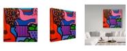 "Trademark Global John Nolan 'Still Life With Matisse 1' Canvas Art - 14"" x 14"""