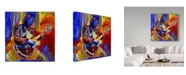 "Trademark Global Howie Green 'Bb King Portrait' Canvas Art - 18"" x 18"""