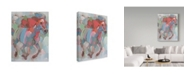 "Trademark Global Hooshang Khorasani 'Pegasus Red Gray' Canvas Art - 24"" x 32"""
