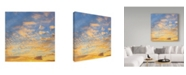 "Trademark Global Jason Matias 'Honolulu Skyline' Canvas Art - 18"" x 18"""