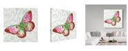 "Trademark Global Jean Plout 'Potanical Beauties 5' Canvas Art - 24"" x 24"""