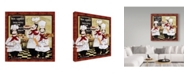 """Trademark Global Jean Plout 'Bistro French Chefs 2' Canvas Art - 24"""" x 24"""""""
