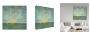 """Trademark Global Jean Plout 'Abstract Sunrise Landscape' Canvas Art - 14"""" x 14"""""""