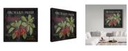 "Trademark Global Jean Plout 'Orchard Fresh Cherries' Canvas Art - 14"" x 14"""