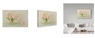 "Trademark Global Cora Niele 'Vintage Roses Still Life' Canvas Art - 19"" x 12"""
